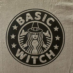"""Comfort Colors """"Basic Witch"""" Tee - Men's Lg - NWT"""